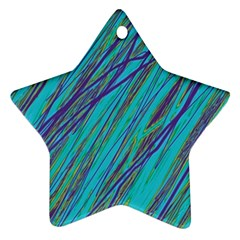 Blue pattern Star Ornament (Two Sides)