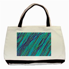 Blue pattern Basic Tote Bag (Two Sides)
