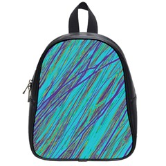 Blue pattern School Bags (Small)