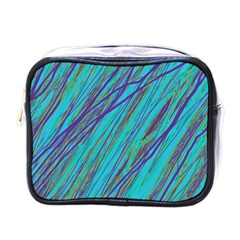 Blue pattern Mini Toiletries Bags