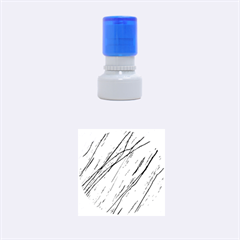 Blue pattern Rubber Round Stamps (Small)