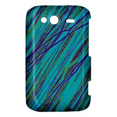 Blue pattern HTC Wildfire S A510e Hardshell Case