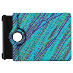 Blue pattern Kindle Fire HD Flip 360 Case