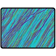 Blue pattern Double Sided Fleece Blanket (Large)