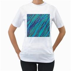 Blue pattern Women s T-Shirt (White)