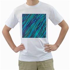 Blue pattern Men s T-Shirt (White)