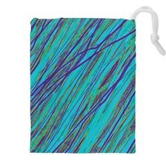 Blue pattern Drawstring Pouches (XXL)