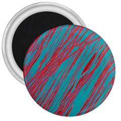 Red and blue pattern 3  Magnets