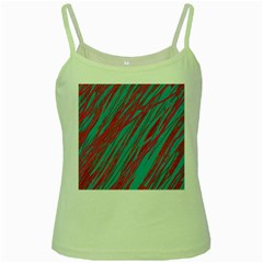 Red and blue pattern Green Spaghetti Tank
