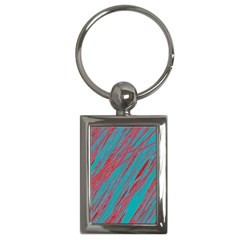 Red and blue pattern Key Chains (Rectangle)