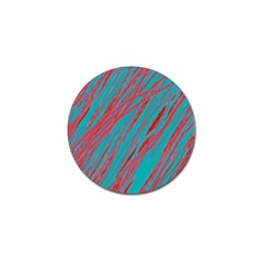 Red and blue pattern Golf Ball Marker