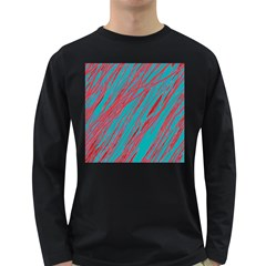 Red and blue pattern Long Sleeve Dark T-Shirts