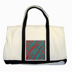 Red and blue pattern Two Tone Tote Bag