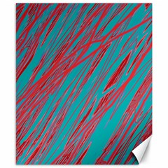 Red and blue pattern Canvas 8  x 10