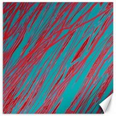 Red and blue pattern Canvas 12  x 12