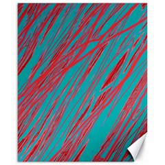 Red and blue pattern Canvas 16  x 20