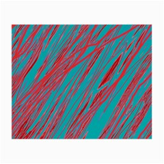 Red and blue pattern Small Glasses Cloth (2-Side)