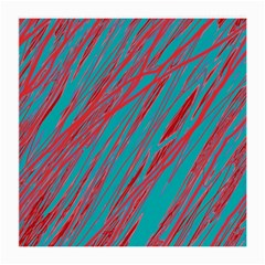 Red and blue pattern Medium Glasses Cloth