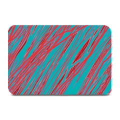Red and blue pattern Plate Mats