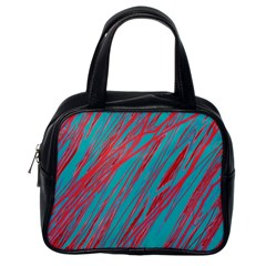 Red and blue pattern Classic Handbags (One Side)