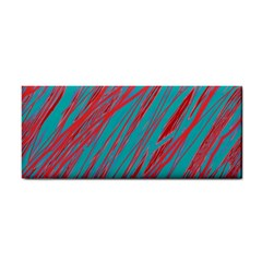 Red and blue pattern Hand Towel