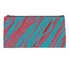 Red and blue pattern Pencil Cases
