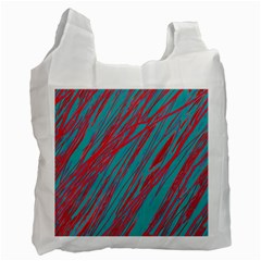 Red and blue pattern Recycle Bag (One Side)