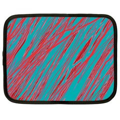 Red and blue pattern Netbook Case (XXL)