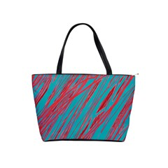 Red and blue pattern Shoulder Handbags