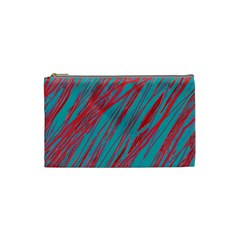 Red and blue pattern Cosmetic Bag (Small)