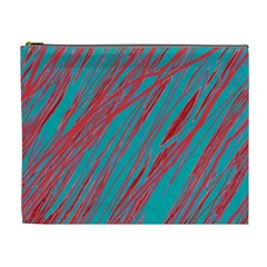 Red and blue pattern Cosmetic Bag (XL)