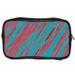 Red and blue pattern Toiletries Bags
