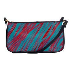 Red and blue pattern Shoulder Clutch Bags