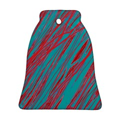 Red and blue pattern Bell Ornament (2 Sides)