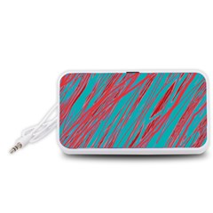 Red and blue pattern Portable Speaker (White)