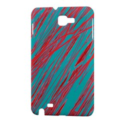 Red and blue pattern Samsung Galaxy Note 1 Hardshell Case