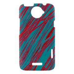 Red and blue pattern HTC One X Hardshell Case