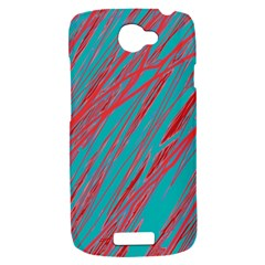 Red and blue pattern HTC One S Hardshell Case