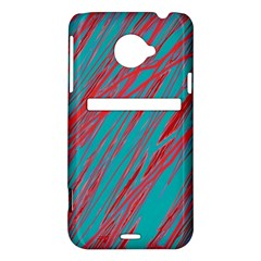 Red and blue pattern HTC Evo 4G LTE Hardshell Case