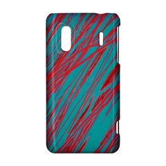 Red and blue pattern HTC Evo Design 4G/ Hero S Hardshell Case