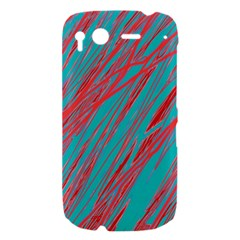 Red and blue pattern HTC Desire S Hardshell Case