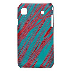 Red and blue pattern Samsung Galaxy S i9008 Hardshell Case