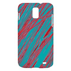Red and blue pattern Samsung Galaxy S II Skyrocket Hardshell Case