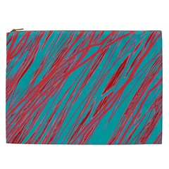 Red and blue pattern Cosmetic Bag (XXL)