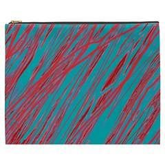 Red and blue pattern Cosmetic Bag (XXXL)