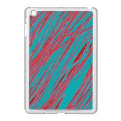 Red and blue pattern Apple iPad Mini Case (White)