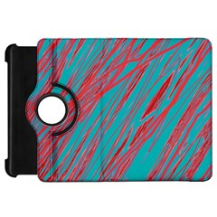 Red and blue pattern Kindle Fire HD Flip 360 Case
