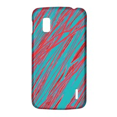 Red and blue pattern LG Nexus 4