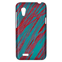Red and blue pattern HTC Desire VT (T328T) Hardshell Case
