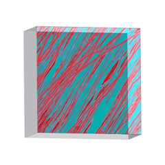 Red and blue pattern 4 x 4  Acrylic Photo Blocks